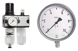 Pressure regulator – Pressure gauge – Air preparation